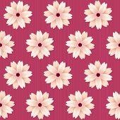 Blooming sakura flowers. Vector seamless pattern.