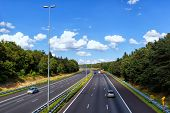 View Of The Roads In Doorwerth Netherlands.  With 139,295 Km Of Public Roads, The Netherlands Has On