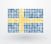 Swedish Flag Made up Of Dots