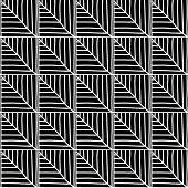 Monochrome African Ornamental Pattern. Stylized Seamless texture