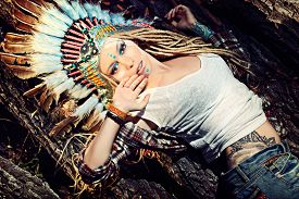 picture of indian chief  - Close - JPG