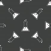 image of conic  - Image of conical flask repeated on grey background - JPG