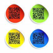 pic of qr codes  - Modern bar codes - JPG