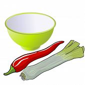 pic of leek  - The leek and red pepper - JPG