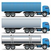foto of wagon  - Trailer Icons with container - JPG