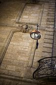 picture of bordeaux  - Street lamp in an old part of Bordeaux - JPG