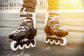pic of inline skating  - walk on roller skates for skating - JPG