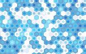 stock photo of hexagon pattern  - blue hexagon vector background design - JPG