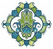 picture of hamsa  - Ornamental hamsa for your design - JPG