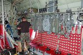 Paratrooper Inside Cargo Airplane