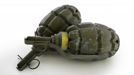 image of grenades  - Hand grenade in old world war two style pineapple shape - JPG