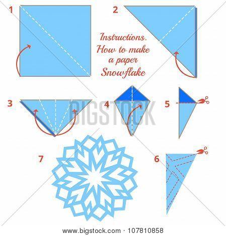 Origami Paper Snowflake Tutorial