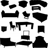 Silhouettes of furniture