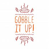 Gobble it up - typographic element poster
