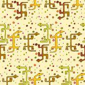 image of dogon  - Dogon style lizards on a seamless wallpaper pattern - JPG