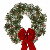 Christmas Money And Gem Wreath