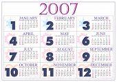 Постер, плакат: Календарь 2007