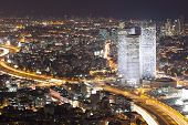 Tel Aviv Skyline - Night City