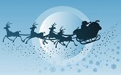 picture of santa sleigh  - illustration of santa - JPG