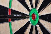 Arrow In The Center Of Darts Board