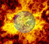 Earth Hotter Than Ever Symbol