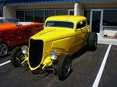 Yellow American Hotrod