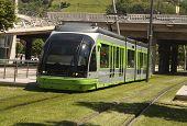 Straßenbahn. Bilbao, Baskenland, Spanien. Baskenland