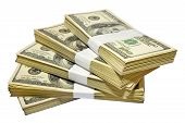 stock photo of plunder  - the fifty thousands us dollars heap with clipping path - JPG