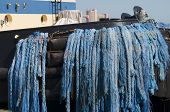 Blue Rope On Boat