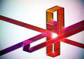 Multicolor Film-Streifen