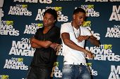 LOS ANGELES - JUN 5:  Lupe Fiasco; Trey Songz in the press room of the 2011 MTV Movie Awards at Gibs
