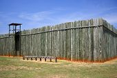 stock photo of stockade  - Reconstructed Stockade - JPG