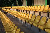 Empty tribunes