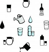 water illustrations and symbols set