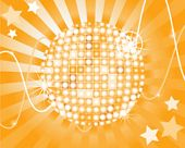disco ball with abstract background