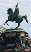 stock photo of sankt-peterburg  - Monument to emperor Nikolay I in Sankt - JPG