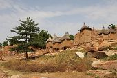 foto of dogon  - A view of Dogon tribe village in Mali - JPG