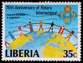 A 35-cent Stamp Printed In Liberia