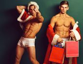 Handsome Macho Santa Twins poster