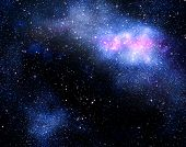 deep outer space background with stars and nebula