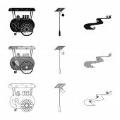 Vector Design Of Urban And Street Icon. Collection Of Urban And Relaxation Vector Icon For Stock. poster