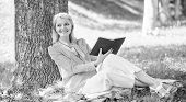 Self Improvement Book. Business Lady Find Minute To Read Book Improve Her Knowledge. Self Improvemen poster