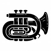 Orchestra Trumpet Icon. Simple Illustration Of Orchestra Trumpet Vector Icon For Web Design Isolated poster