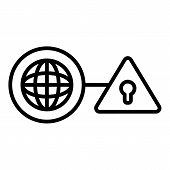 Web Global Firewall Icon. Outline Web Global Firewall Vector Icon For Web Design Isolated On White B poster
