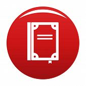 Book Publication Icon. Simple Illustration Of Book Publication Vector Icon For Any Design Red poster