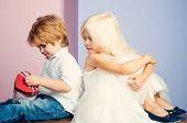 Friendship And Love. Lovely Tender Children. Small Kids Friendship. Sincere Friendship. Couple Adora poster