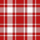 Tartan Tattersalls Plaid. Scottish Pattern In Red And White Cage. Scottish Cage. Traditional Scottis poster