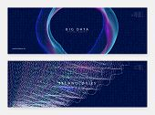 Big Data Background. Digital Technology Abstract Concept. Artificial Intelligence And Deep Learning. poster