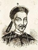 Porträt von Kwang Sii, China König. Illustration von Alwin Zschiesche, veröffentlicht auf