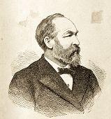 Porträt von Garfield, Präsident der Vereinigten Staaten. Illustration von Alwin Zschiesche, veröffentlicht am